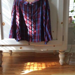 Ann Taylor Loft off-shoulder blouse Size XS